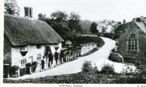 Jenkins, the blacksmith, lived in the cottage on the left