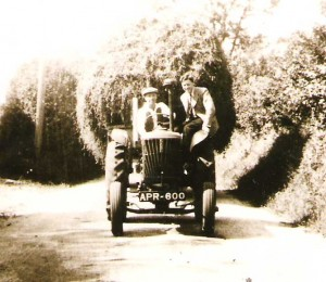Farm tractor in 1940s