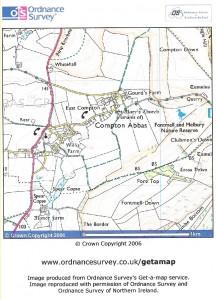 Map of Compton Abbas