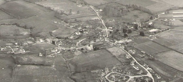 Aerial view of Fontmell Magna