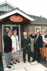 Harold Stainer at the opening of the new Village Hall