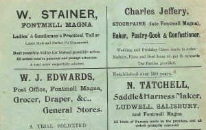 Advert for W. Stainer