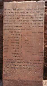 Memorial at the remains of the Kashmir Gate, Delhi which was erected by General Lord Napier in 1876