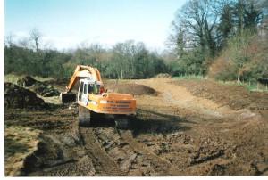 Excavating pond, Brookland Wood