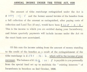 Tithe document 1936