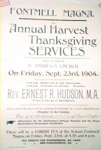Annual Harvest Thanksgiving poster