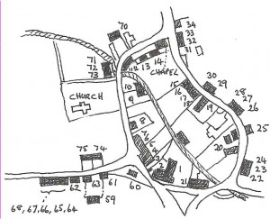 Map of village centre