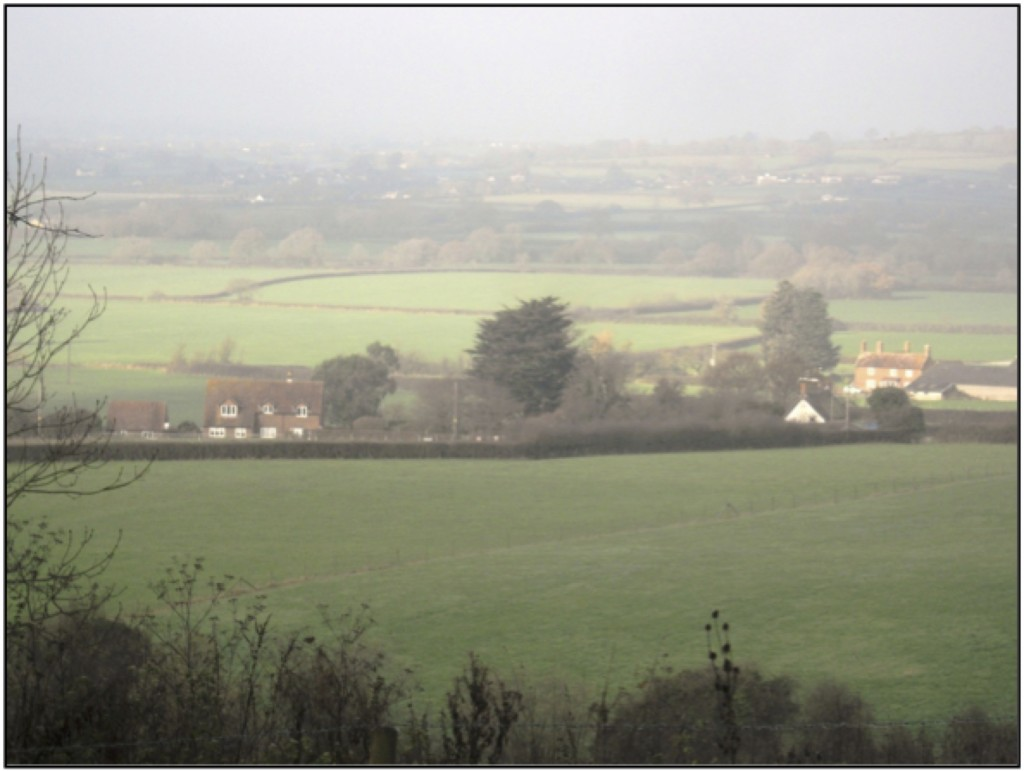 Blackven Cottages with the Farm beyond in 2014