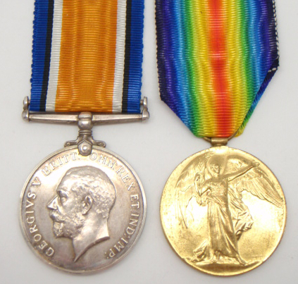British War & Victory Medals awarded 1st March 1920