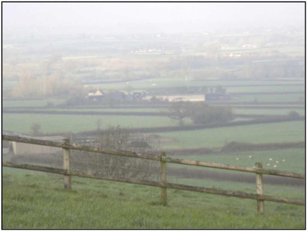 Green Farm in the Blackmore Vale, looking west from Hartgrove Hill.