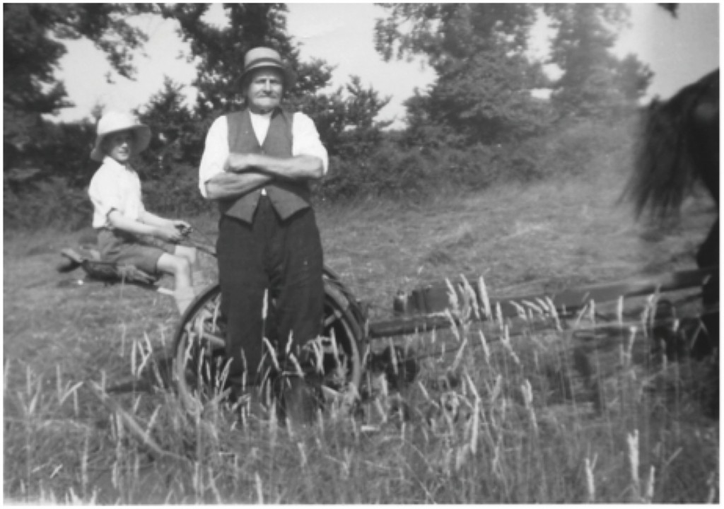 Henry Rideout in a field at the back of Kitt Hill.