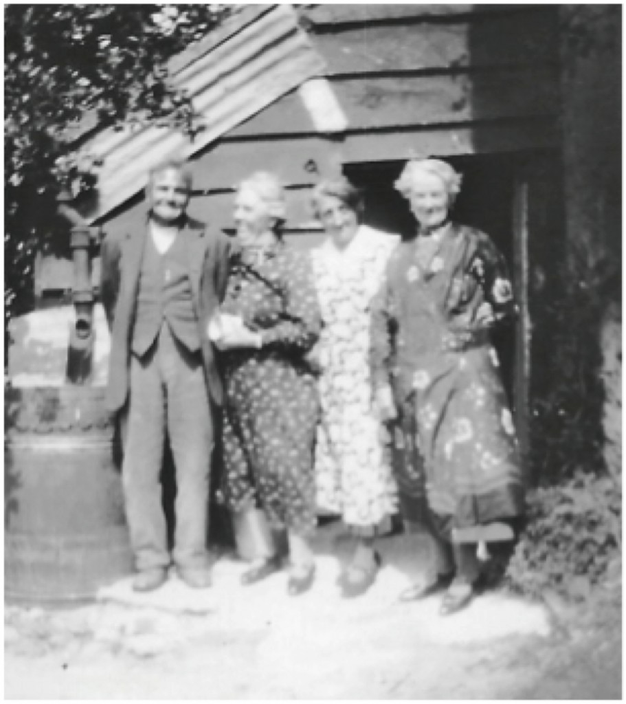 Henry Rideout with his wife, Fanny(the middle lady) and two unnamed ladies.