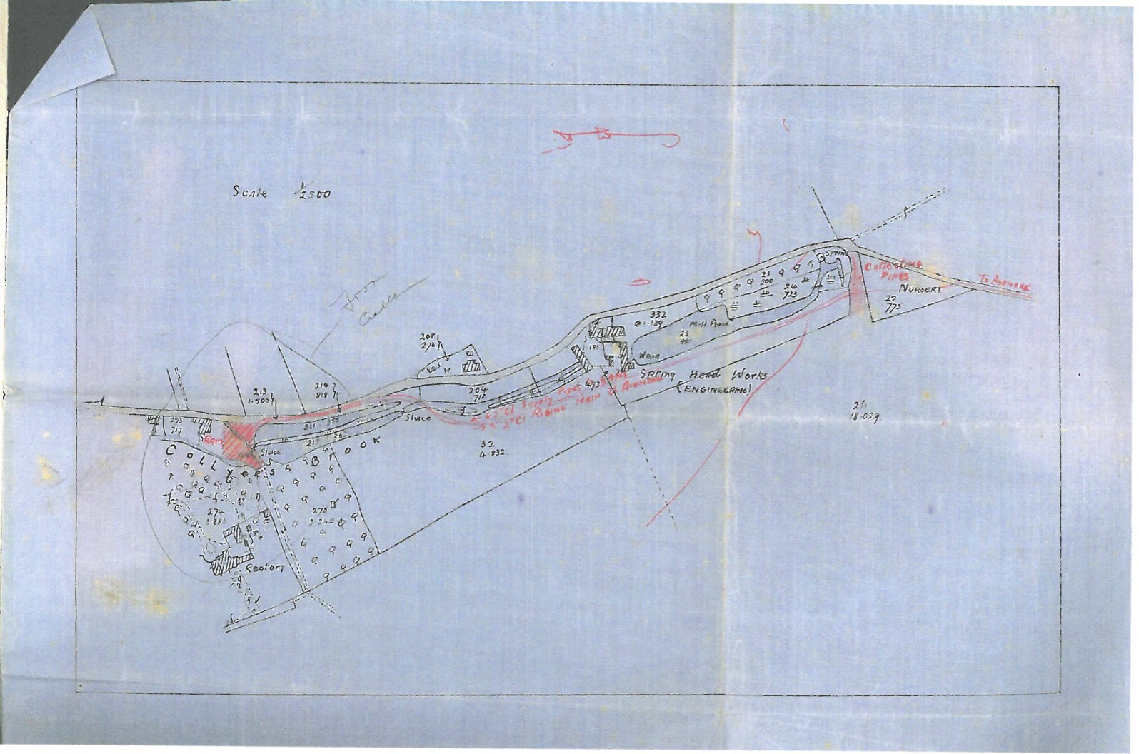 Plan from Deed of Title for Middle Mill Dam