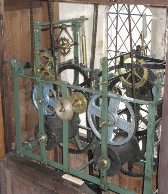 St Andrew's church clock mechanism