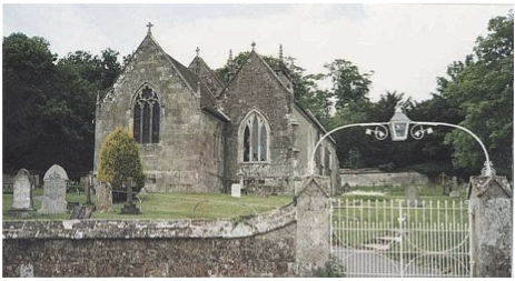 St Mary's Church, Shroton, where the Clubmen of Hambledon Hill were held prisoner